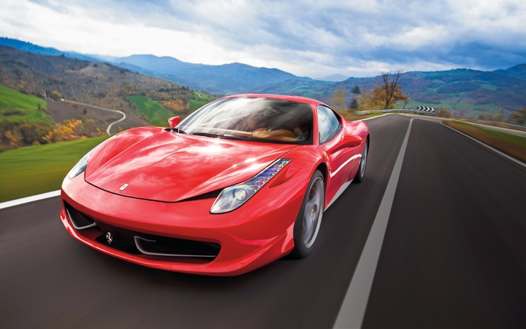 1002 01 Z 2010 Ferrari 458 Italia Front Three Quarter View