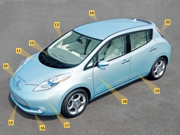 1002 03 Z 2010 Nissan Leaf Front Three Quarter View 603x453