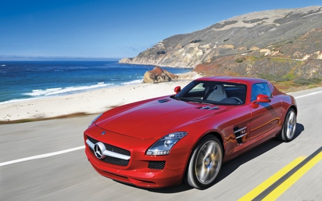 1002 12 Z 2011 Mercedes Benz SLS AMG Front Three Quarter View 660x413
