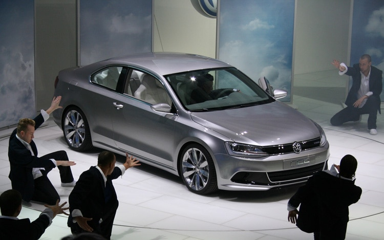 Volkswagen Compact Coupe With Dancers