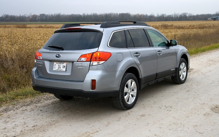 1002 02 Z 2010 Subaru Outback Limited Rear Three Quarter View