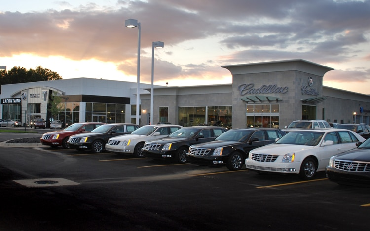 1002 02 Z LaFontane Cadillac Go Green Dealership