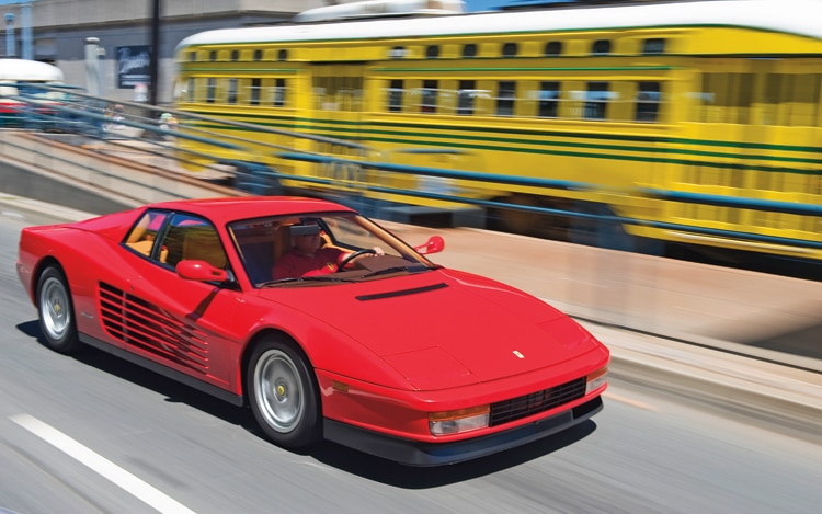 1003 01 Z 1990 Ferrari Testarossa Front Three Quarter View