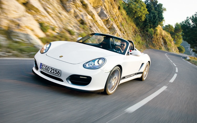 1003 01 Z 2011 Porsche Boxster Spyder Front Three Quarter View