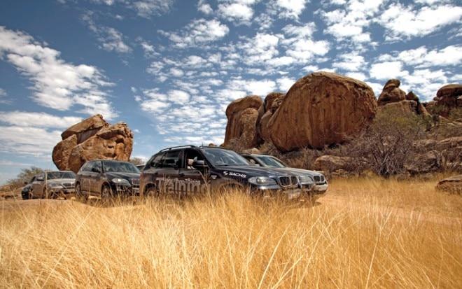 1003 01 Z BMW X5 Driver Training Namibia Africa Caravan 660x413