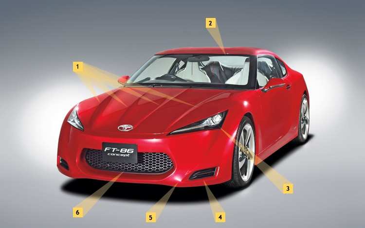 1003 01 Z Toyota FT 86 Front Three Quarter View