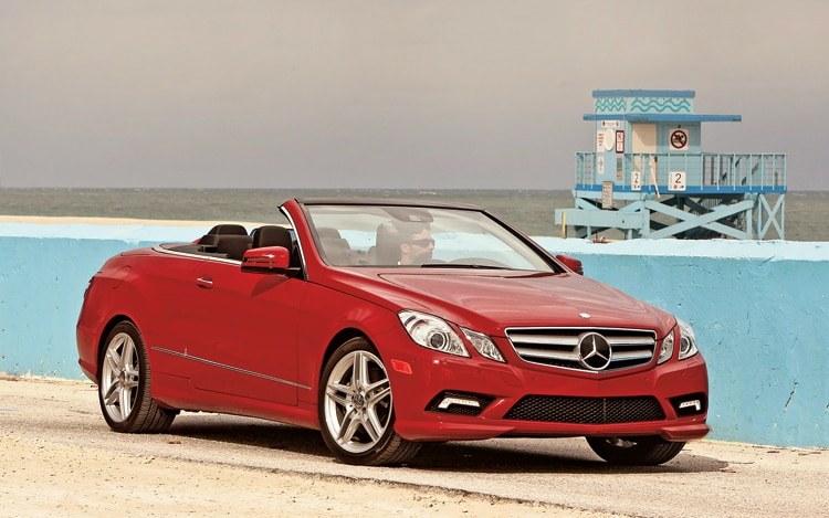 1005 01 2011 Mercedes Benz E Class Cabriolet Front Three Quarter View