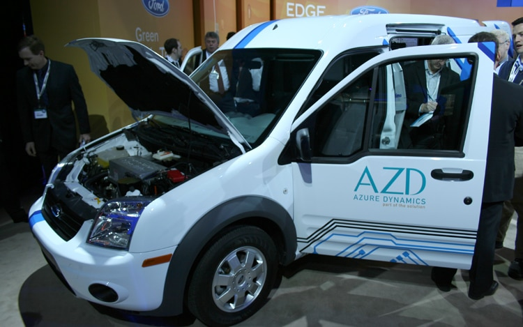 2011 Ford Electric Transic Connect Front Three Quarter