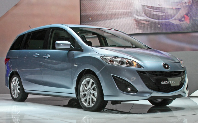 2011 Mazda5 Front Passengers Side View1