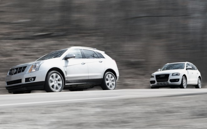 1003 01 Z 2010 Cadillac SRX And 2010 Audi Q5 Front Three Quarter View 660x413