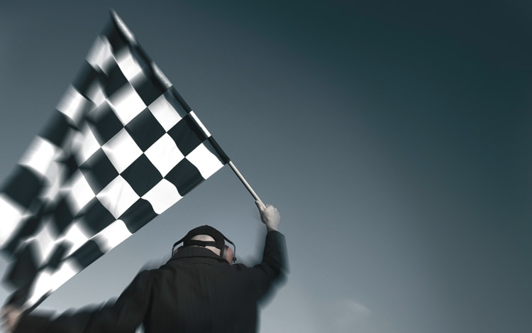 1004 01 Z US F1 Checkered Flag