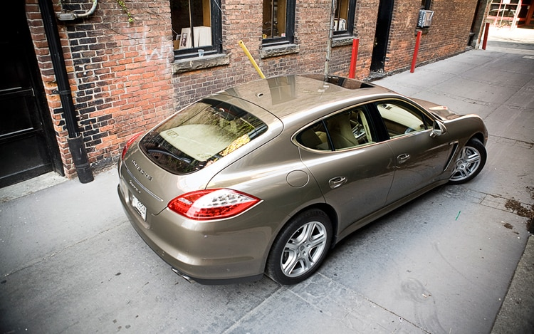 1005 11 2010 Porsche Panamera S Rear Three Quarter View