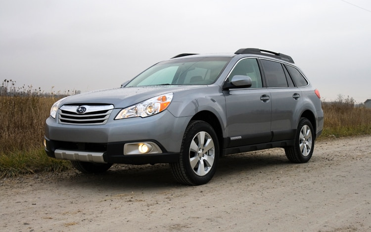 1002 01 Z 2010 Subaru Outback Limited Front Three Quarter View