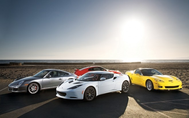 1007 26 Sports Cars 911 Carrera S Corvette Z06 GTR And Lotus Evora 660x413