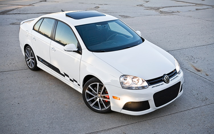 2010 Volkswagen Jetta TDI Cup Edition Front Three Quarters Top View2