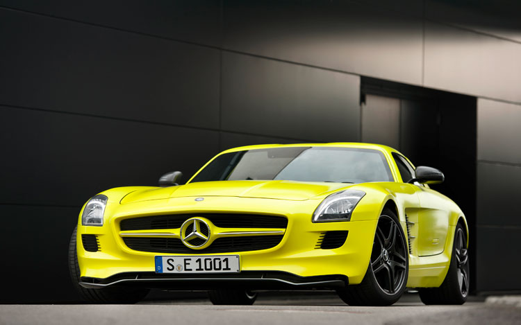 Mercedes Benz SLS AMG E Cell Prototype Front1
