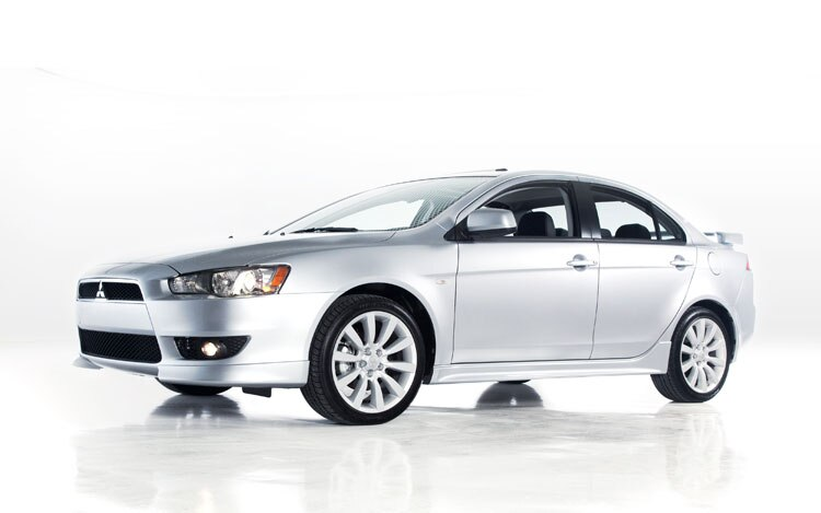 2010 Mitsubishi Lancer GTS Front Three Quarters3