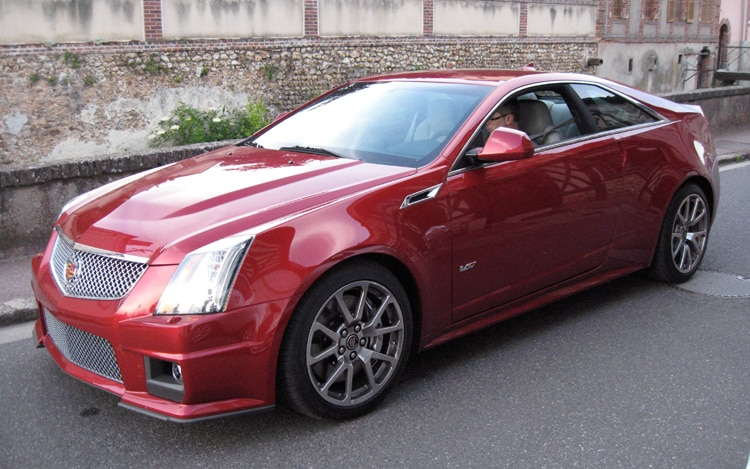 2011 Cadillac CTS V Coupe Front Three Quarters