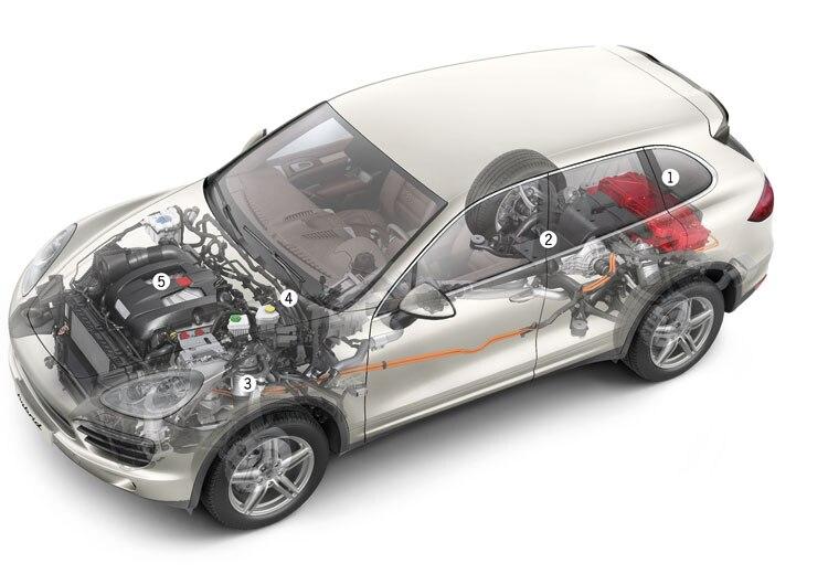 2011 Porsche Cayenne S Hybrid Chassis