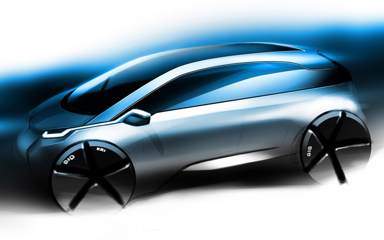 2013 BMW Megacity Vehicle Sketch