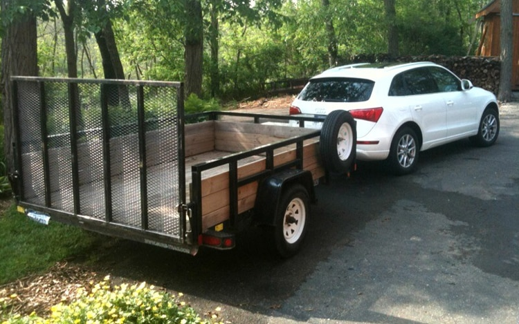 2010 Audi Q5 Rear Three Quarters Towing