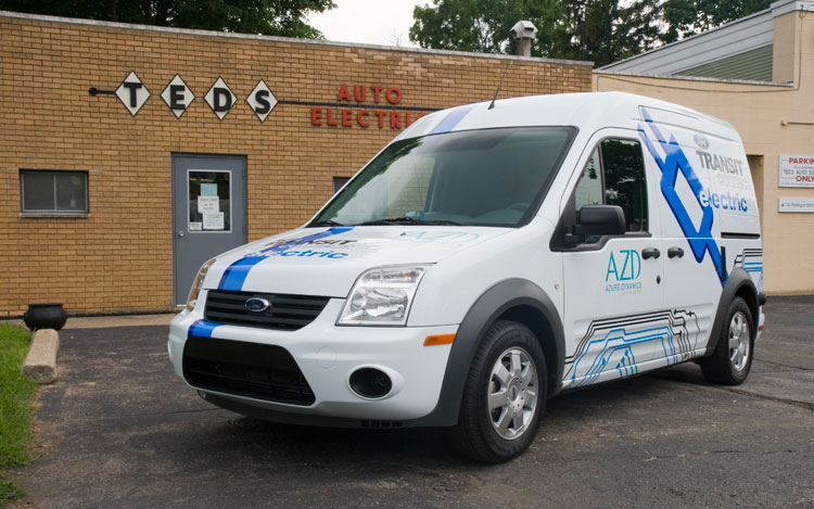 2010 Ford Transit Connect Electric Three Quarters