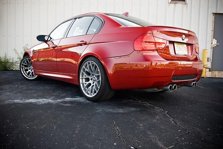 2011 BMW m3 sedan phía sau ba phần tư tĩnh