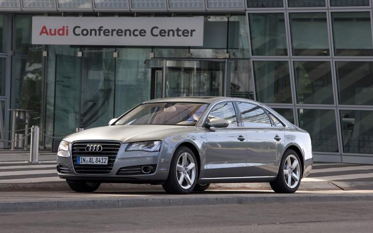 2011 Audi A8L Front Three Quarters Static Driver