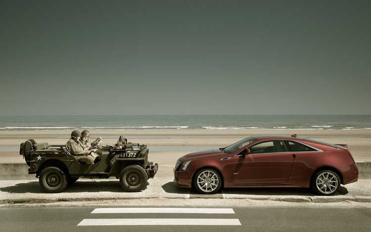 2011 Cadillac CTS V Coupe Left Side With Jeep