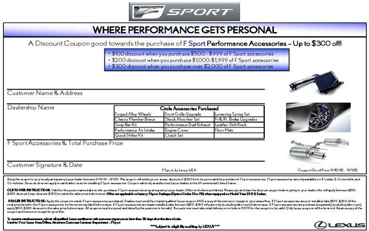 Lexus coupons discount