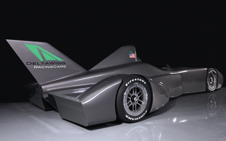 DeltaWing Race Car Concept Rear Three Quarters