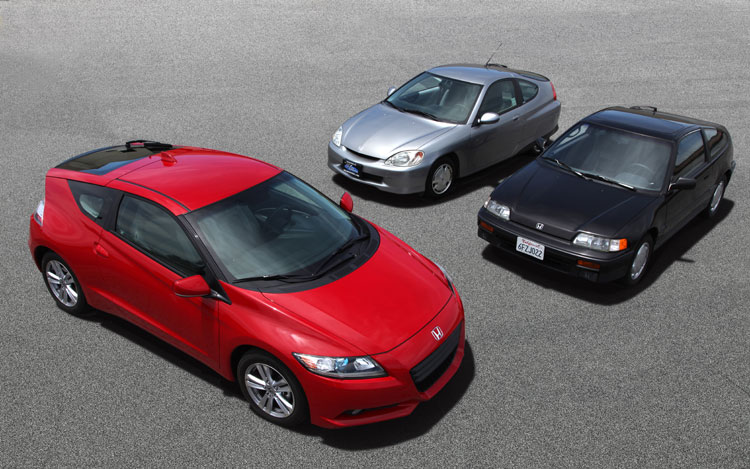 Honda CR Z CRX Insight Top View