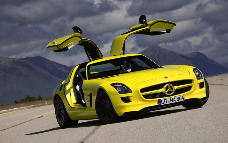 Mercedes Benz SLS AMG E Cell Prototype Front View