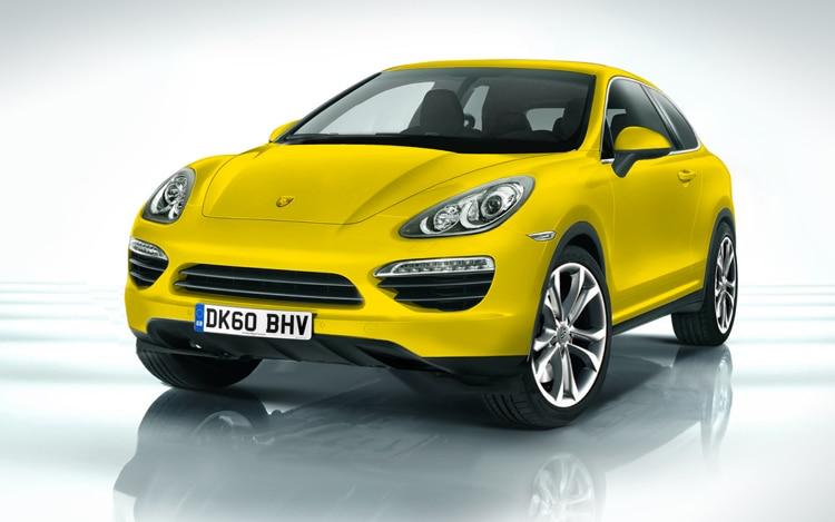 Porsche Cajun Crossover Illustration Front