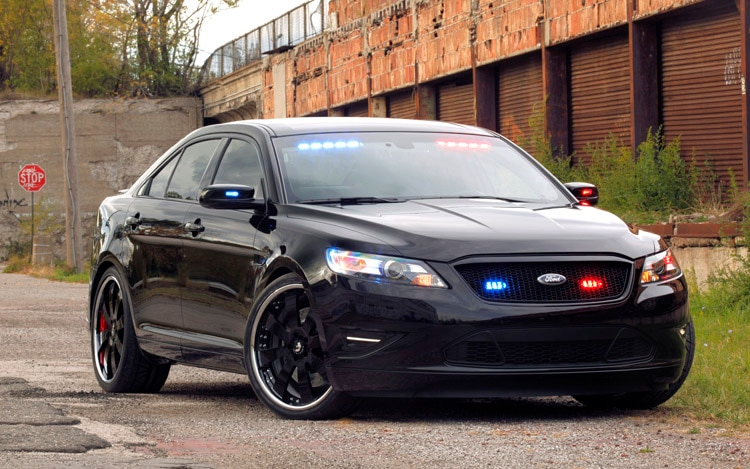 ford shows 2012 taurus police interceptor stealth concept at sema. Black Bedroom Furniture Sets. Home Design Ideas