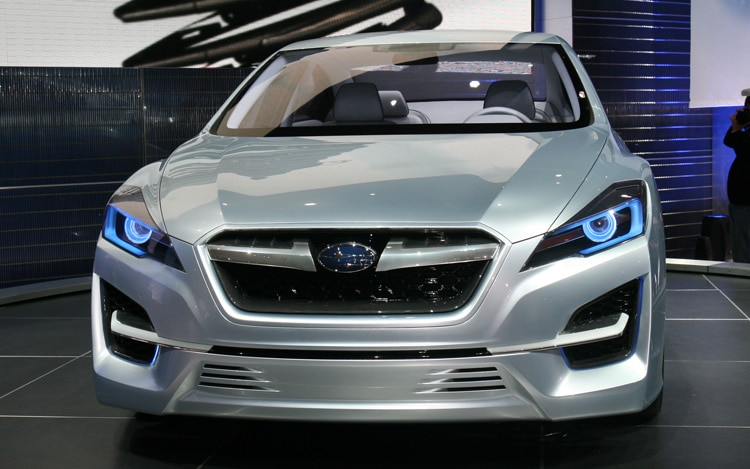 los angeles 2010 subaru confidently teases the impreza 39 s future. Black Bedroom Furniture Sets. Home Design Ideas