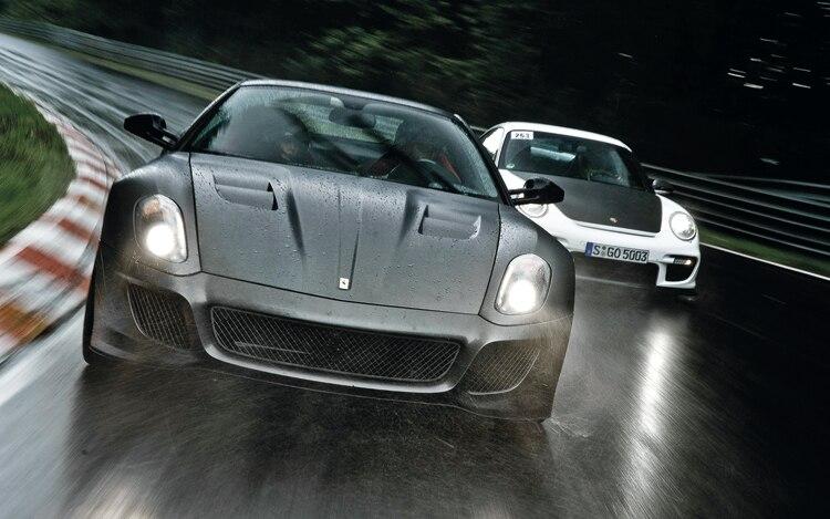 comparison ferrari 599gto vs porsche 911 gt2 rs automobile magazine. Black Bedroom Furniture Sets. Home Design Ideas