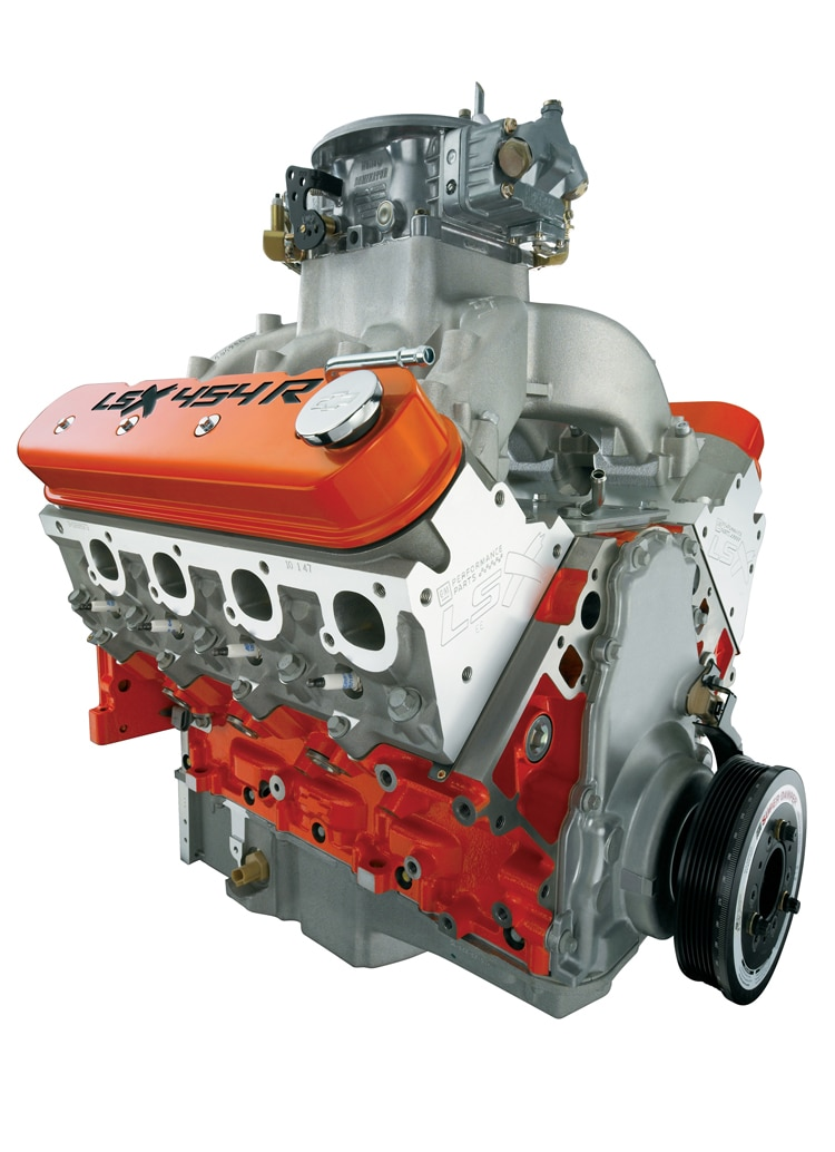 gm 39 s debuts new lsx454r crate engine with 720 horsepower. Black Bedroom Furniture Sets. Home Design Ideas