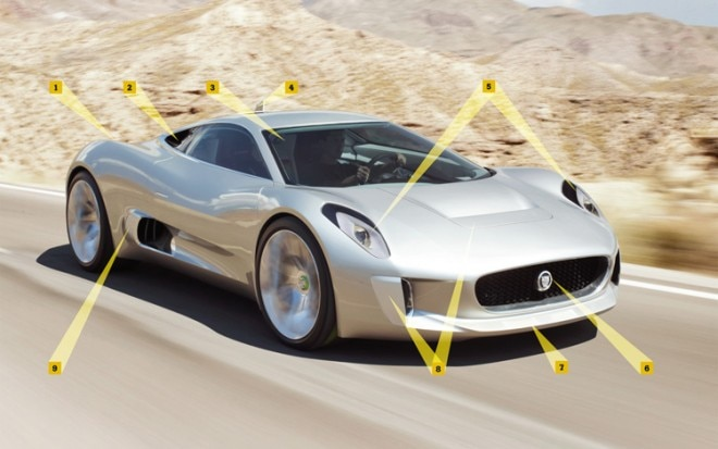 Jaguar C X75 Front Three Quarters View 660x413