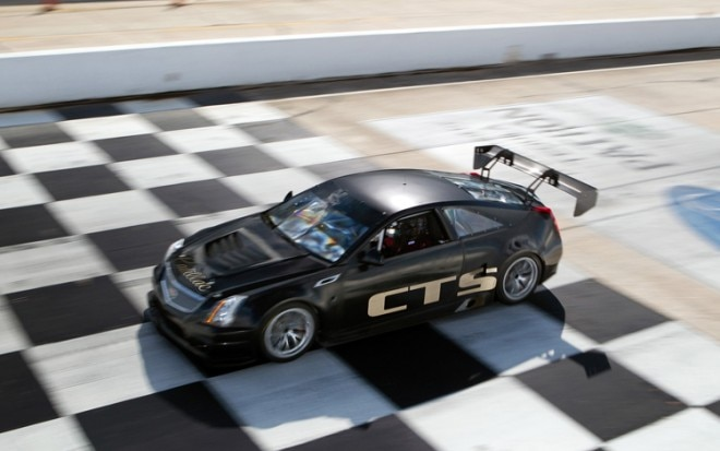2011 Cadillac CTS V Coupe Race Car On Track Aerial1 660x413