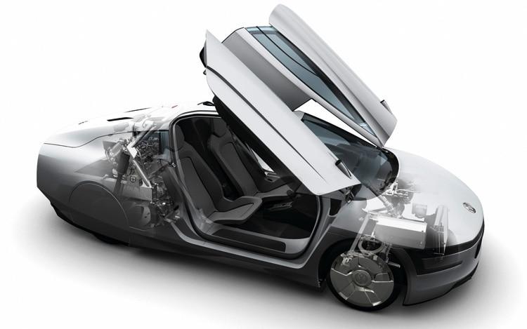 2011 Volkswagen Xl1 Concept Doors Open1