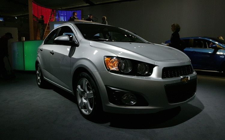2012 Chevrolet Sonic Front Three Quarters Static1