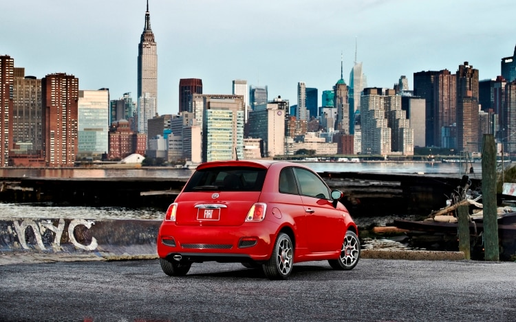 2012 Fiat 500 Rear Three Quarter1