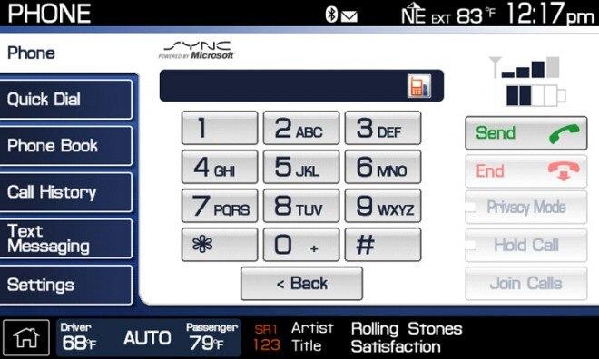 Ford SYNC Phone 660x396