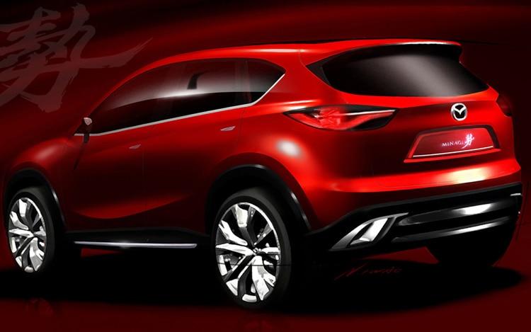 Mazda Minagi Sketch Rear View1