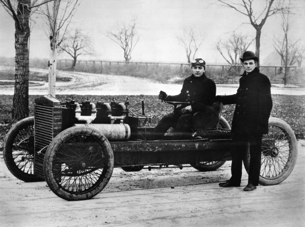 1903 Barney Oldfield Henry Ford And 999 Race Car Neg DBN45681 609x453