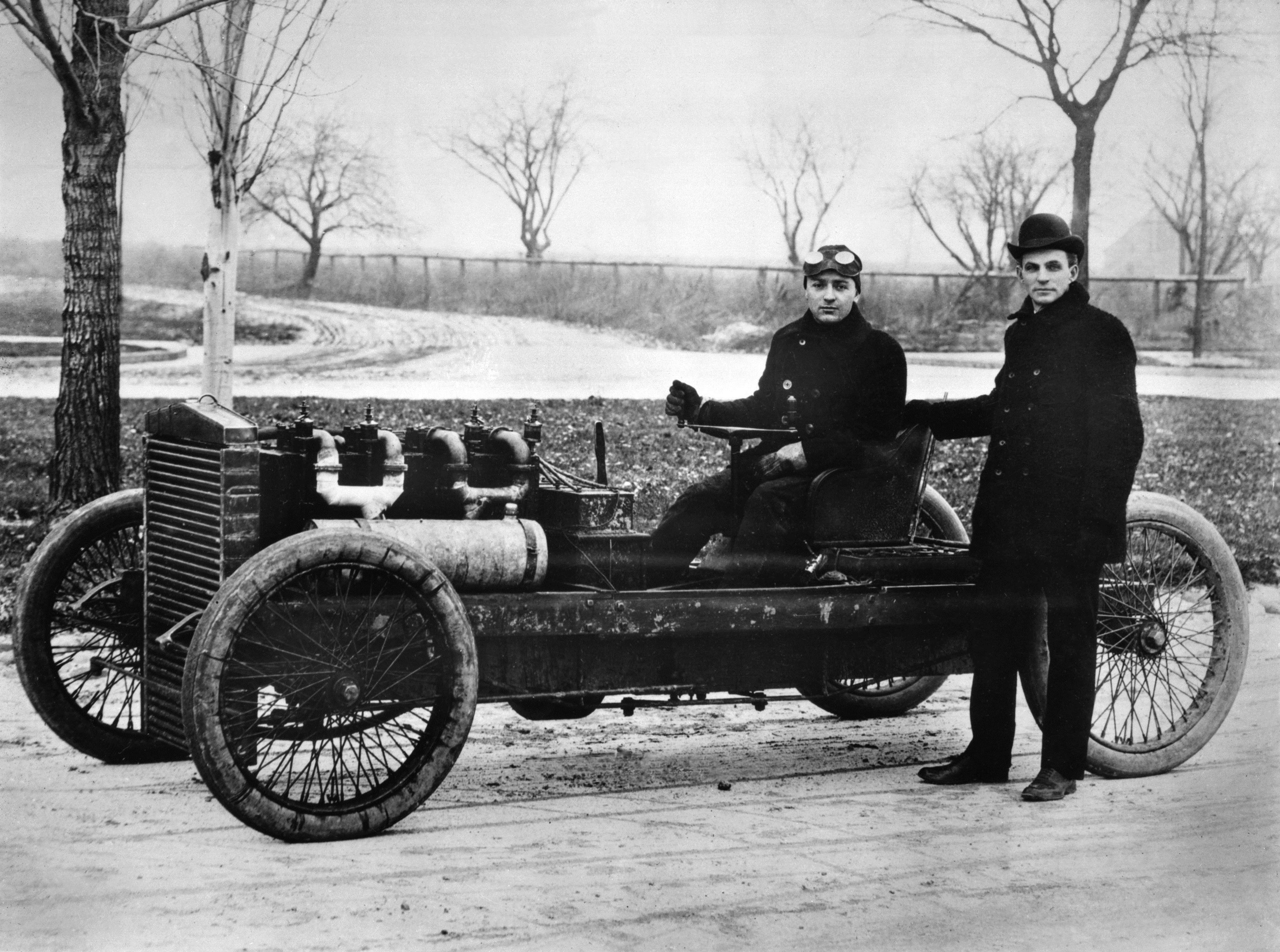 1903 Barney Oldfield Henry Ford And 999 Race Car Neg DBN45681