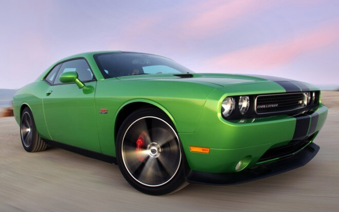 2011 Dodge Challenger Green Envy Front Three Quarter1 660x413