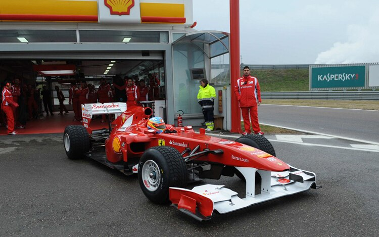 2011 Ferrari F 150th Italia Front Three Quarters In Pit1