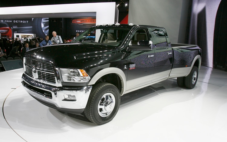 2011 Ram 3500 Crewcab Dually Front Three Quarters View1